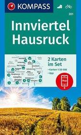 INNVIERTEL HAUSRUCK 201 mapa turystyczna 1:50 000 KOMPASS