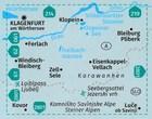 KLOPEINER SEE, KARAWANKER OST, STEINER ALPEN 65 mapa turystyczna 1:50 000 KOMPASS (2)
