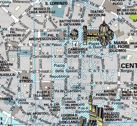 FLORENCJA kieszonkowy plan miasta 1:10 000 TOURING EDITORE 2019 (2)