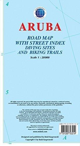ARUBA mapa wodoodporna 1:28 000 KASPROWSKI
