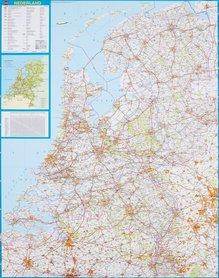 HOLANDIA NIDERLANDY mapa ścienna 1:250 000 FALK 2019