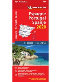 HISZPANIA PORTUGALIA mapa 1:1 000 000 MICHELIN 2020
