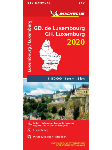 LUKSEMBURG 2020 mapa samochodowa 1:150 000 MICHELIN (1)
