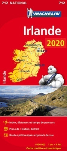 IRLANDIA mapa 1:400 000 MICHELIN 2020