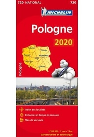 POLSKA mapa 1:700 000 MICHELIN 2020