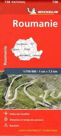 RUMUNIA 738 mapa samochodowa 1:750 000 MICHELIN 2020
