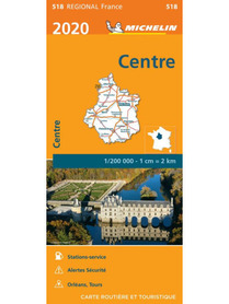 REGION CENTRALNY CENTRE mapa 1:200 000 MICHELIN 2020