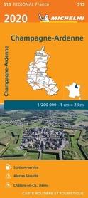 SZAMPANIA ARDENY mapa 1:200 000 MICHELIN 2020