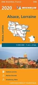 ALZACJA LOTARYNGIA mapa 1:200 000 MICHELIN 2020