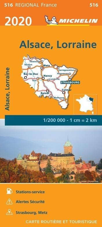 ALZACJA LOTARYNGIA mapa 1:200 000 MICHELIN 2020 (1)
