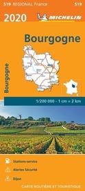 BURGUNDIA mapa 1:200 000 MICHELIN 2020