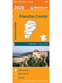 FRANCHE-COMTE mapa 1:200 000 MICHELIN 2020