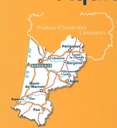 AKWITANIA mapa 1:200 000 MICHELIN 2020 (4)