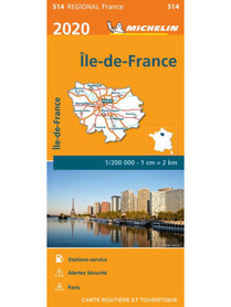 ILE-DE-FRANCE / REGION PARYSKI mapa 1:200 000 MICHELIN 2020