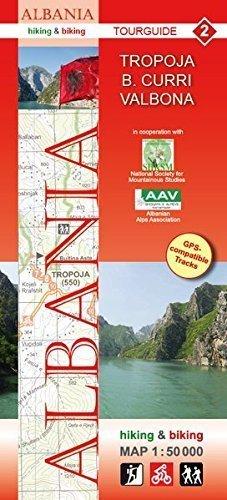ALBANIA TROPOJA B.CURRI VALBONA mapa turystyczna 1:50 000 HUBER 2020