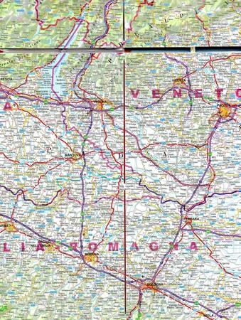 WŁOCHY PÓŁNOCNE mapa laminowana 1:650 000 EXPRESSMAP (4)