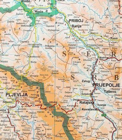 CZARNOGÓRA, PÓŁNOCNA ALBANIA mapa geograficzna 1:200 000 GIZIMAP 2019 (5)