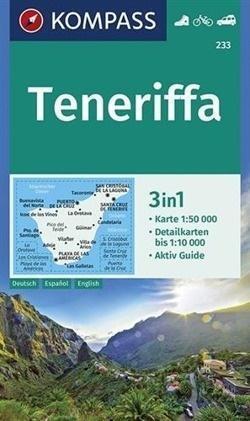 TENERYFA TENERIFE mapa turystyczna 1:50 000 KOMPASS 2019