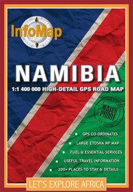 NAMIBIA mapa 1:1 400 000 INFOMAP 2019
