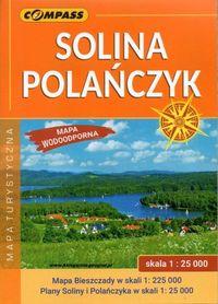 SOLINA POLAŃCZYK BIESZCZADY mapa turystyczna wodoodporna 1:25 000 COMPASS 2020