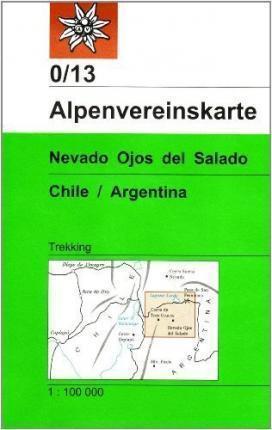 Nevado Ojos Del Salado CHILE / ARGENTYNA mapa terkkingowa ALPENVEREIN