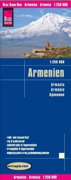 ARMENIA mapa 1:250 000 REISE KNOW HOW 2020