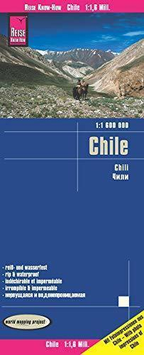 CHILE mapa wodoodporna :1 600 000 REISE KNOW HOW 2020