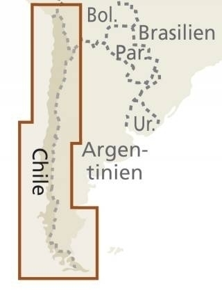 CHILE mapa wodoodporna :1 600 000 REISE KNOW HOW 2020 (3)