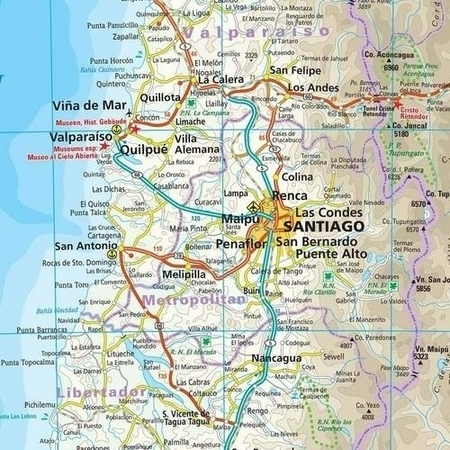CHILE mapa wodoodporna :1 600 000 REISE KNOW HOW 2020 (2)