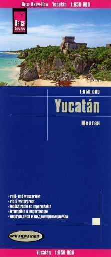 JUKATAN YUCATAN mapa 1:650 000 REISE KNOW HOW