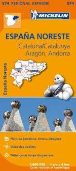 ARAGONIA KATALONIA ANDORA 574 mapa samochodowa 1:400 000 MICHELIN 2018