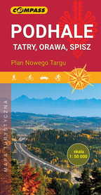 PODHALE TATRY ORAWA SPISZ mapa turystyczna COMPASS 2020