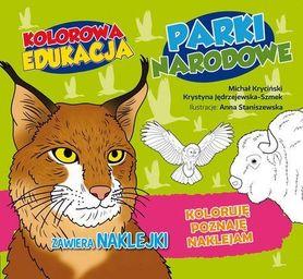 PARKI NARODOWE - KOLOROWA EDUKACJA Kolorowanka z naklejkami RM
