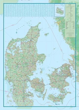 DANIA I KOPENHAGA mapa samochodowa 1:450 000/1:10 000 ITMB (2)