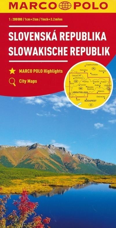 SŁOWACJA mapa samochodowa 1:300 000 MARCO POLO ZOOM (1)