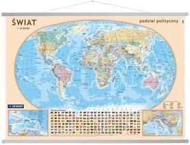ŚWIAT POLITYCZNY mapa ścienna gabinetowa DEMART