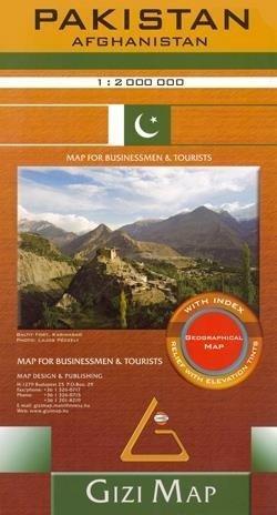 PAKISTAN 1:2 000 000 mapa geograficzna  GIZIMAP 2019