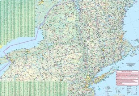 MANHATTAN NOWY JORK 1:12 500  plan miasta i mapa OD BOSTONU DO WASZYNGTONU 1:1 000 000 ITMB (4)