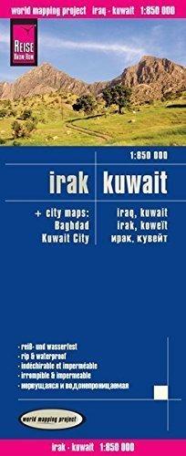 IRAK KUWEJT mapa 1:850 000 REISE KNOW HOW