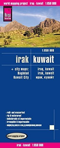IRAK KUWEJT mapa 1:850 000 REISE KNOW HOW (1)