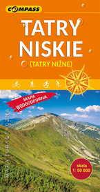 TATRY NISKIE - NIŻNE TATRY laminowana mapa turystyczna 1:50 000 COMPASS 2019