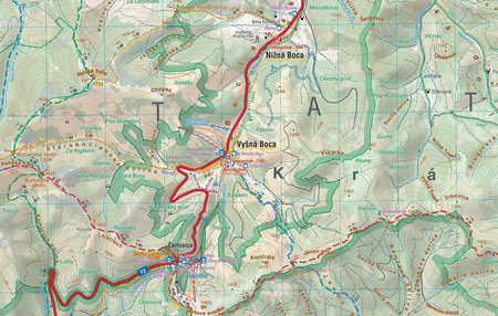 TATRY NISKIE - NIŻNE TATRY laminowana mapa turystyczna 1:50 000 COMPASS 2019 (2)