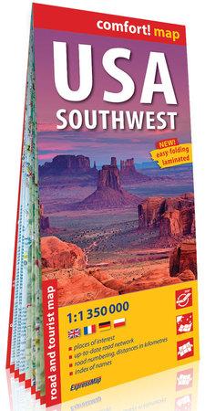 USA Południowo-Zachodnie (South-West USA) mapa laminowana 1:1 350 000 EXPRESSMAP 2019 (1)