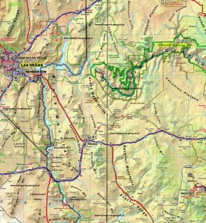 USA Południowo-Zachodnie (South-West USA) mapa laminowana 1:1 350 000 EXPRESSMAP 2019 (4)