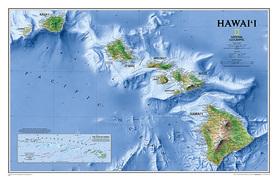 HAWAJE mapa ścienna NATIONAL GEOGRAPHIC