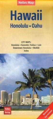 HAWAJE HONOLULU OAHU wodoodporna mapa samochodowa 1:150 000 NELLES 2019