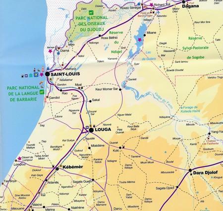 SENEGAL DAKAR mapa turystyczno - drogowa LAURA KANE 2020 (2)