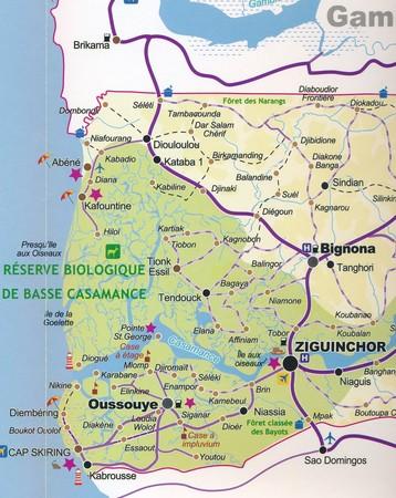 SENEGAL DAKAR mapa turystyczno - drogowa LAURA KANE 2020 (4)