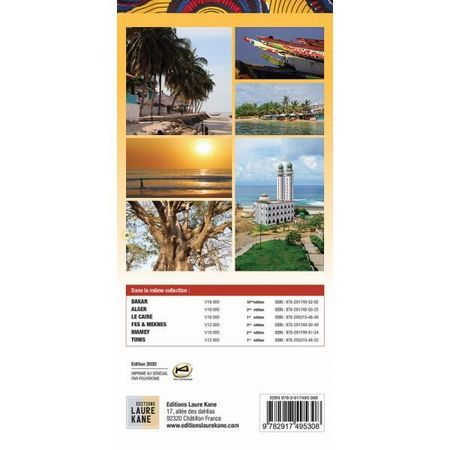 SENEGAL DAKAR mapa turystyczno - drogowa LAURA KANE 2020 (5)