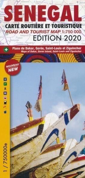 SENEGAL DAKAR mapa turystyczno - drogowa LAURA KANE 2020 (1)